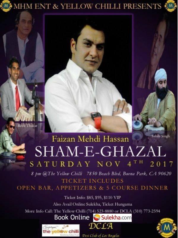 Sham E Ghazal By Faizan Mehdi Hassan at The Yellow Chilli, Buena