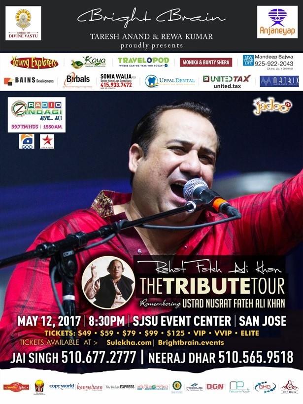 Rahat Fetech Ali Khan Live Concert Bay Area in Event Center Arena