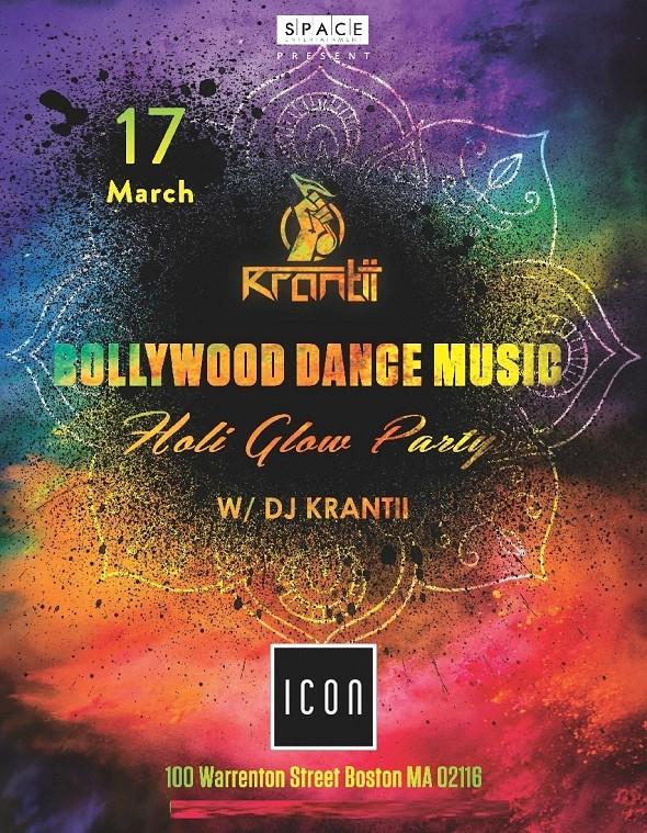 Bollywood Dance Music Holi Glow Party 2017 in Icon Nightclub