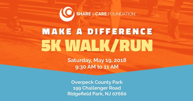 Share & Care foundation - 5k Walk /Run at Overpeck County