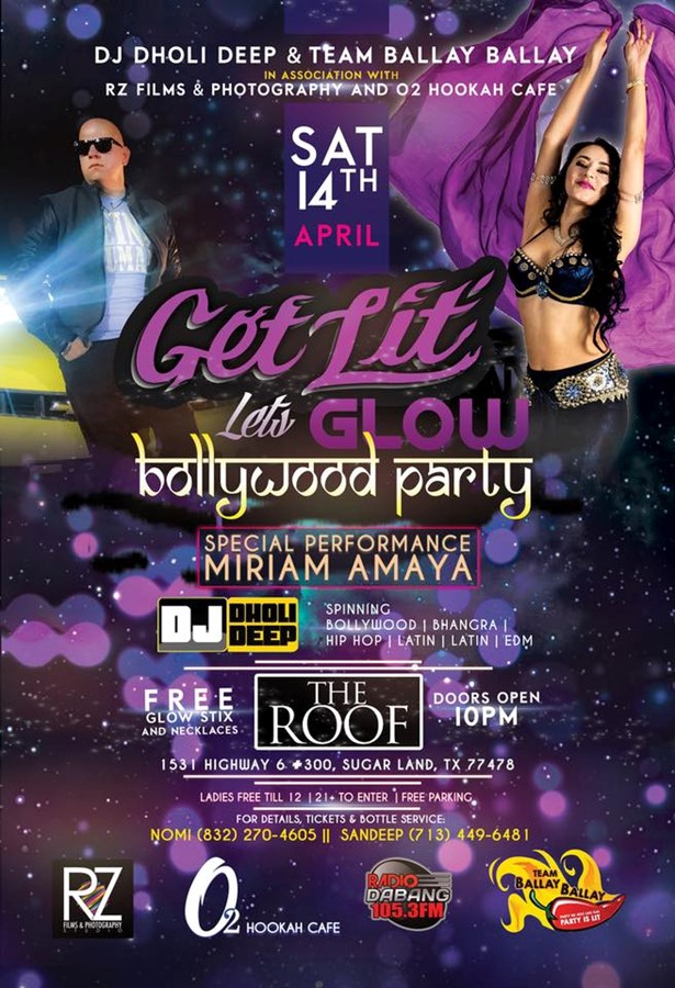 Bollywood Club Party Get Lit Let S Glow In Houston At