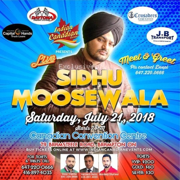 Sidhu Moose Wala Concert In Toronto At Canadian Convention Centre