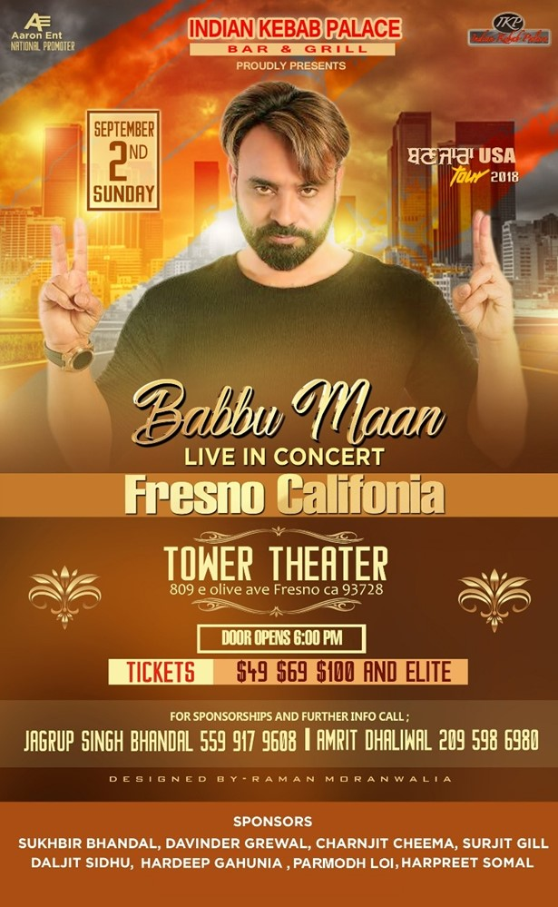 Babbu Maan Live in Concert Bay Area 2018 at The Tower