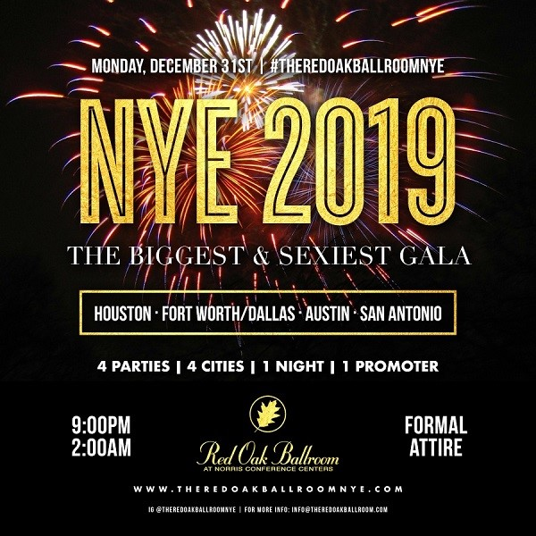 New Year S Eve Celebration 2019 San Antonio At Red Oak