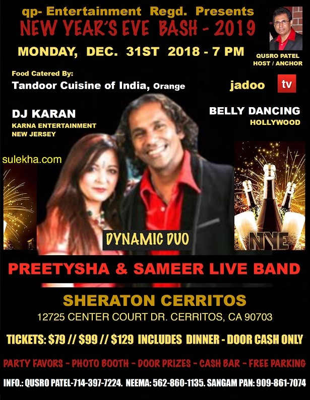 QUSRO PATEL Presents New Years Eve 2019 with Preetysha and