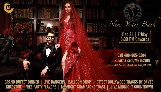 MNYE 2019 Bollywood Party at M Lounge, San Jose, CA | Indian Event