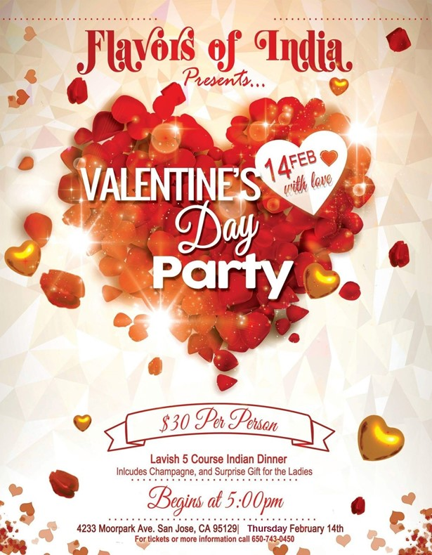 Flavors of India Presents Valentine's Day Party at Flavors