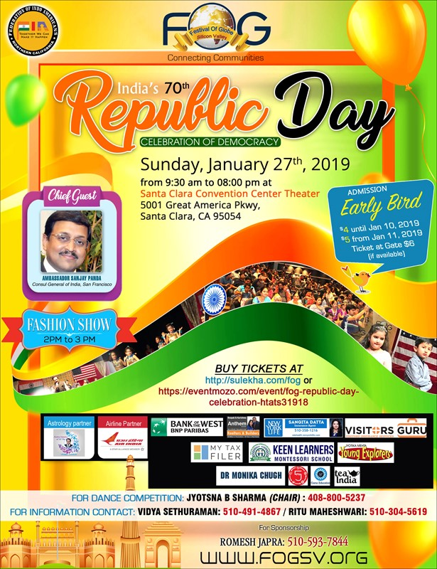 FOG Republic Day Celebration at Santa Clara Convention