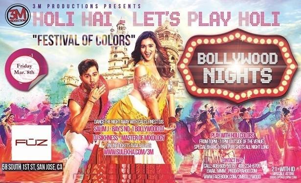 Bollywood Nights - Holi Hai at Fuz Lounge, San Jose, CA