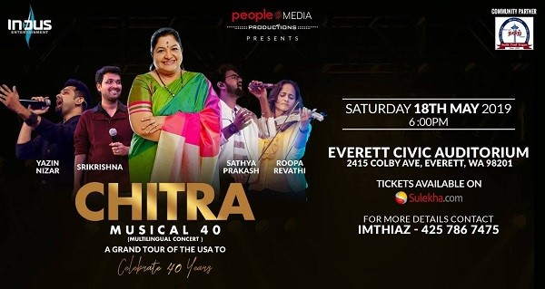 Chitra Musical 40 Live Concert in Seattle at Everett Civic