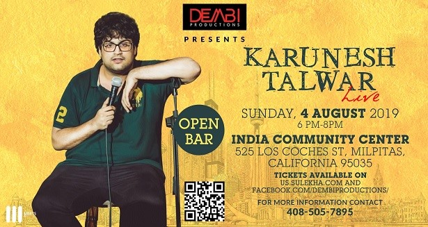 Karunesh Talwar Live Stand Up Comedy - Bay Area at India