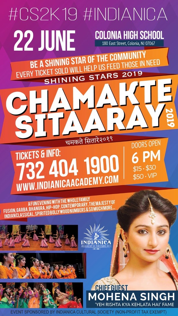 Chamakte Sitaaray 2019 at Colonia High School, Colonia, NJ   Indian