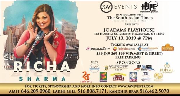 Richa Sharma Live In Concert - New York at John Cranford