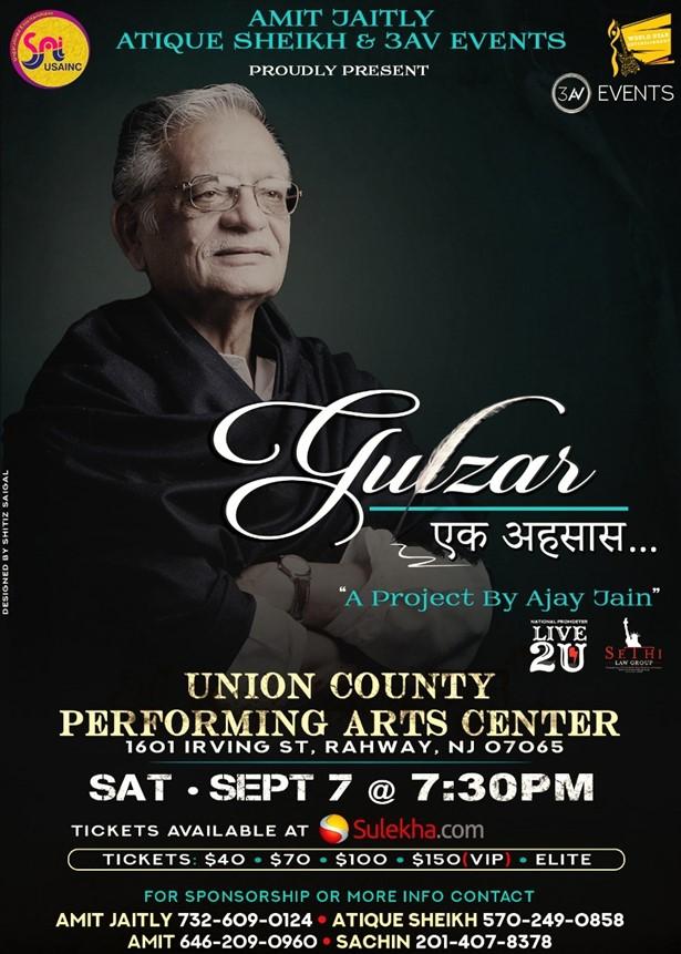 GULZAR- Ek Ehsaas - New Jersey at The Union County