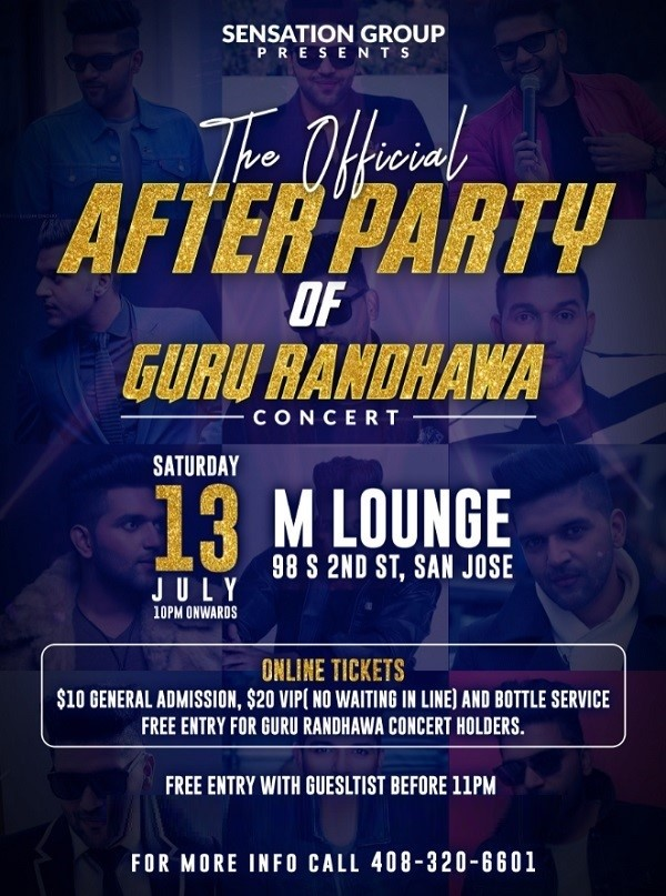 The Official After Party of Guru Randhawa Concert Bay Area at M