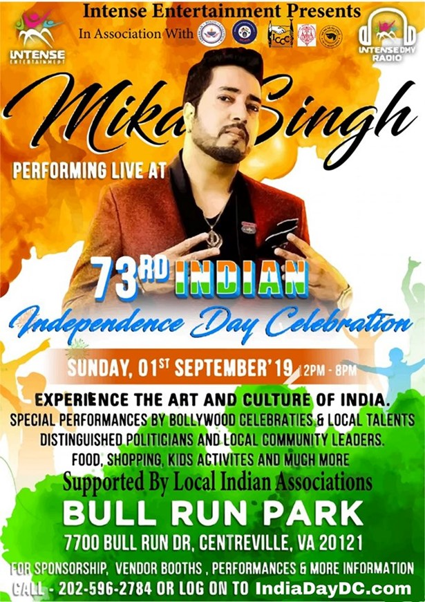 Mika Singh Live at India Independence Day at Bull Run