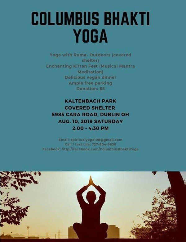 Bhakti Yoga Event at Kaltenbach Park and Community Center, Dublin