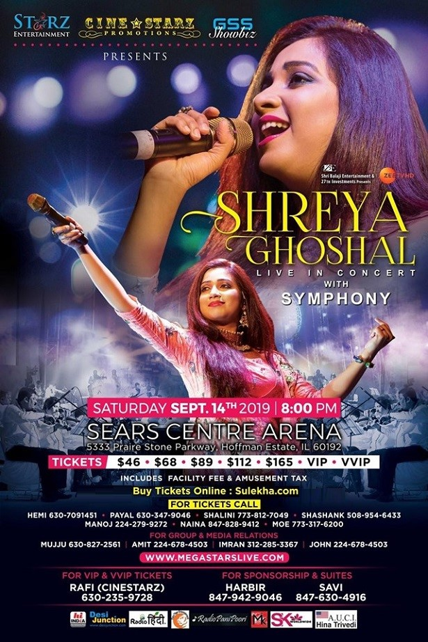 Shreya Ghoshal Live In Concert Symphony Chicago (All Seats together