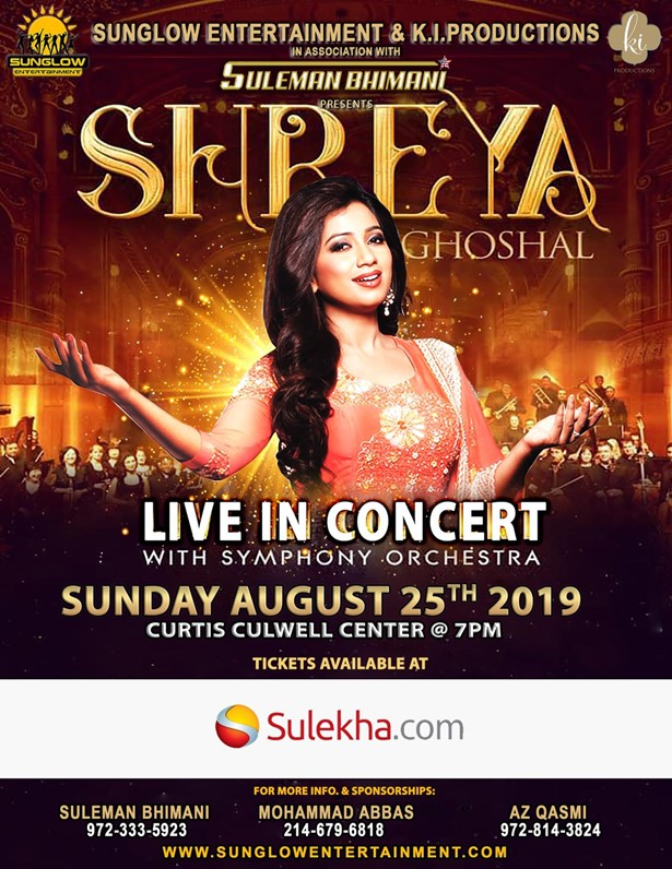 Shreya Ghoshal Live In Concert - Dallas at Curtis Culwell