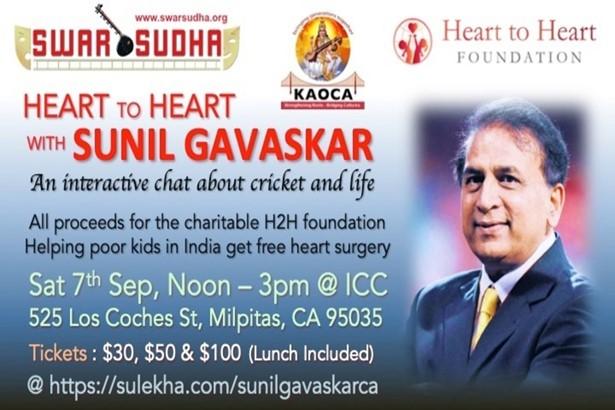 Heart2Heart with Sunil Gavaskar! at India Community Center