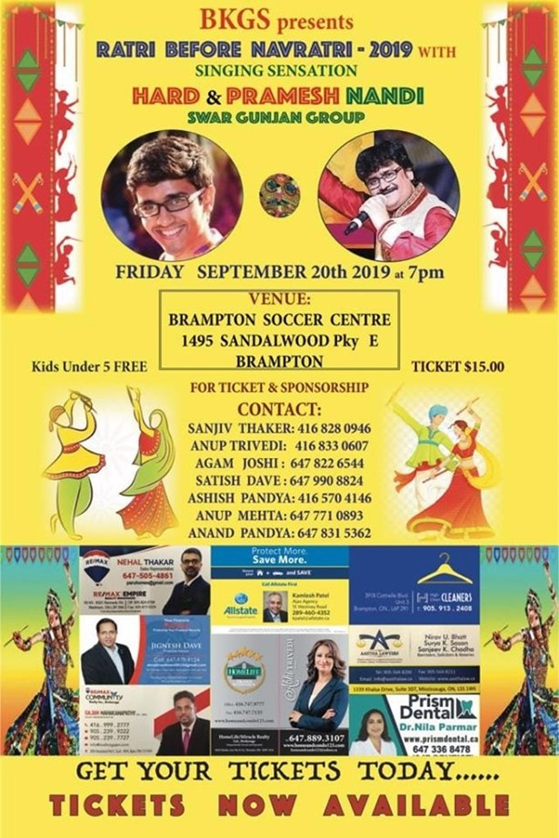 Garba 2019 With Pramesh Nandi and Hard Nandi at BRAMPTON