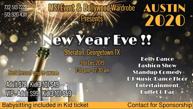 Austin New Years Eve 2020.New Years Eve Austin 2020 At Sheraton Georgetown Tx Sulekha Event