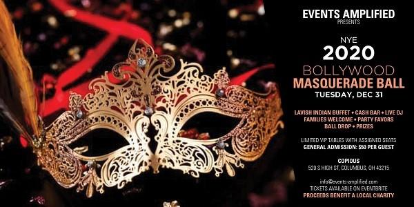New Year's Eve 2020 Bollywood Masquerade Ball at Copious ...