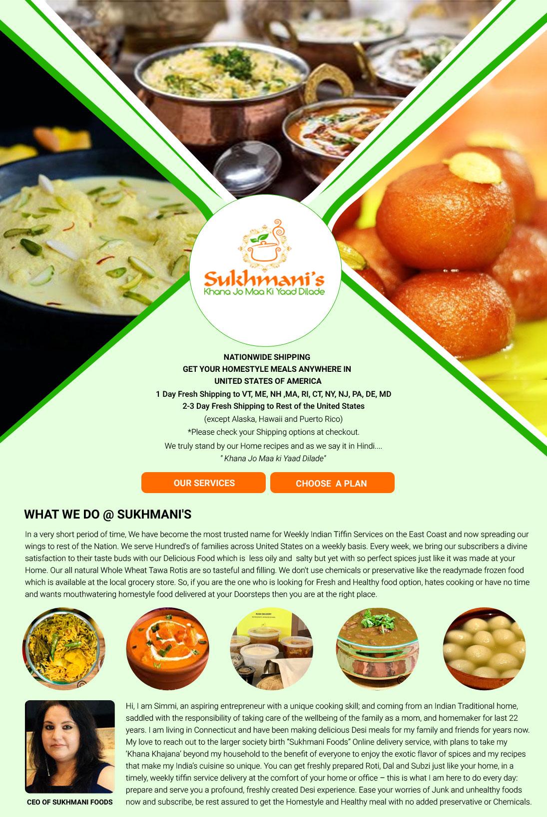 Sukhmani Foods - Cooking Service - Fairfield, CT | Sulekha