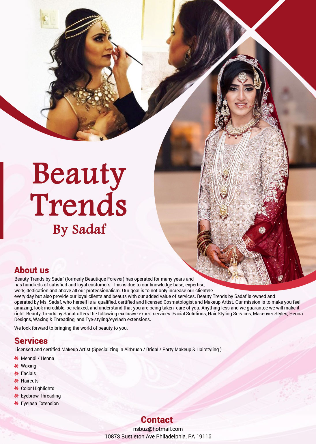 Beauty Trends By Sadaf - Mehndi Artist - Philadelphia, PA