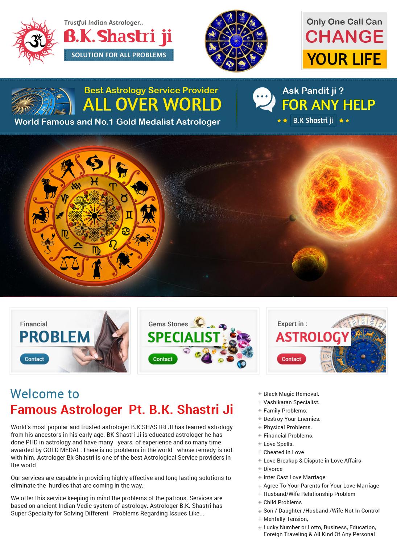 Famous Astrologer Pt  B K  Shastri Ji - Astrologer & Psychic