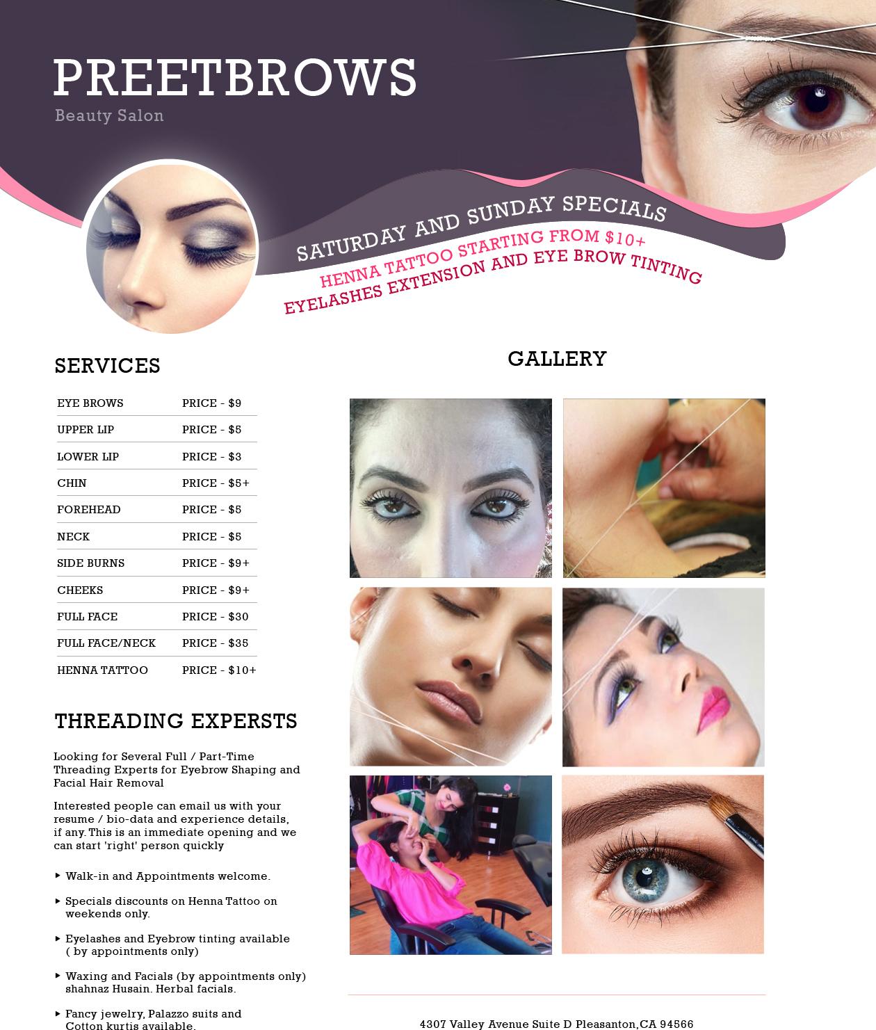 Preet Brows Beauty Salon Pleasanton Tx Sulekha