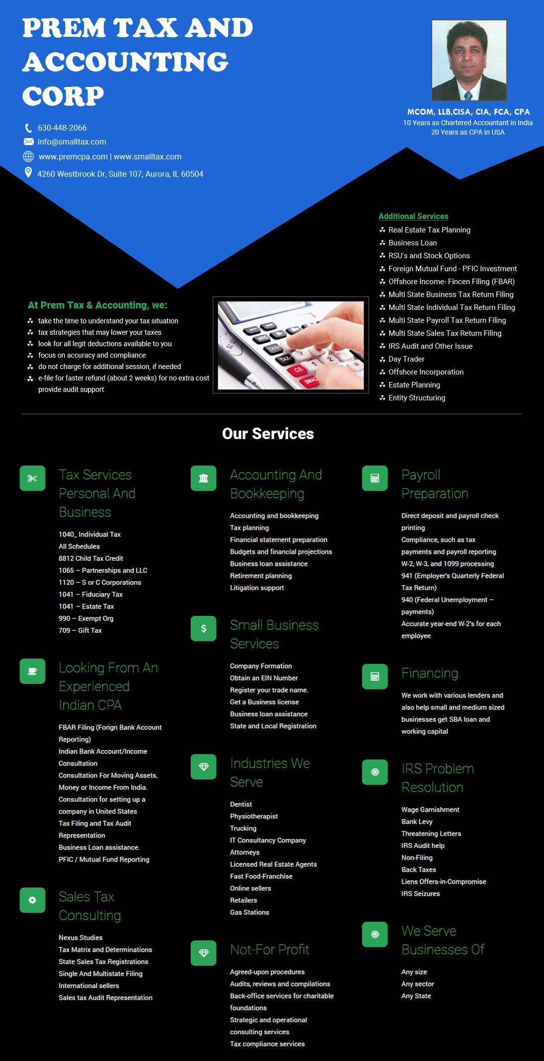 Prem Tax & Accounting - Tax Preparation Service in Aurora