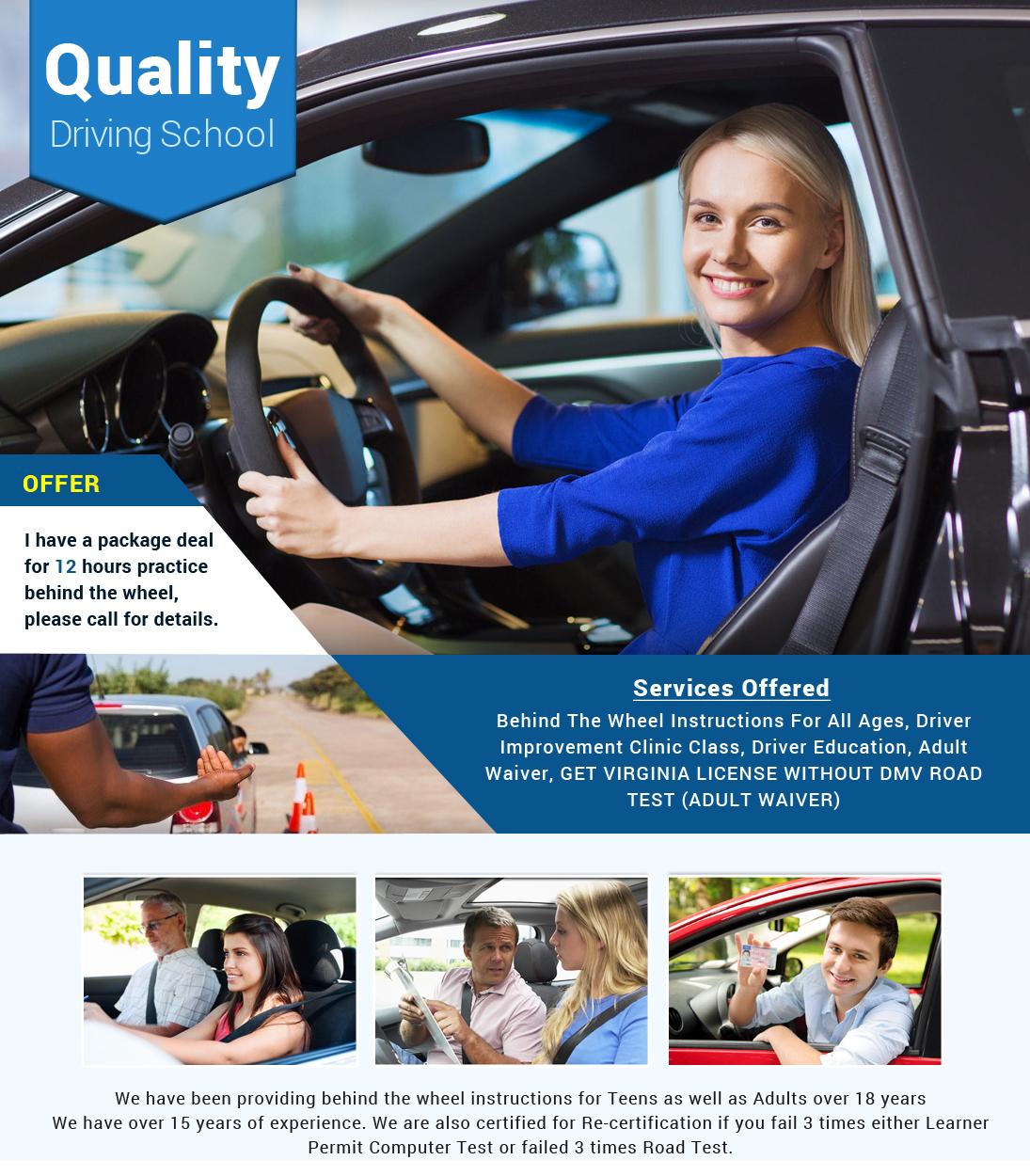 Quality Driving School - Driving School - Fairfax, VA | Sulekha
