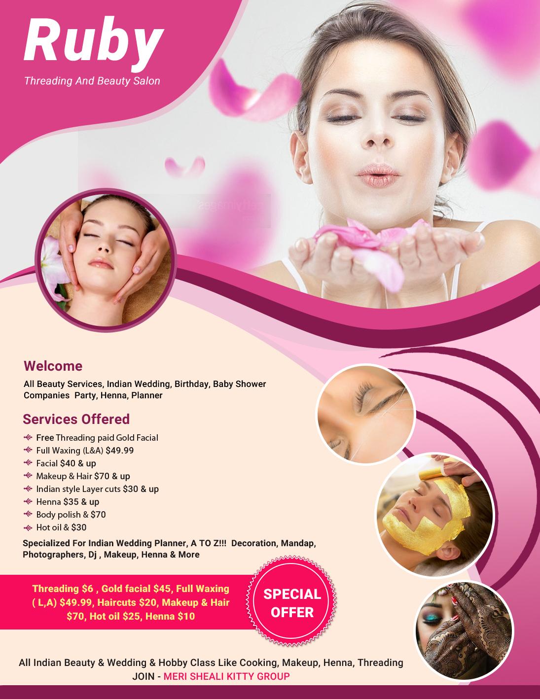 Ruby Threading And Beauty Salon Beauty Salon Sunnyvale Ca Sulekha