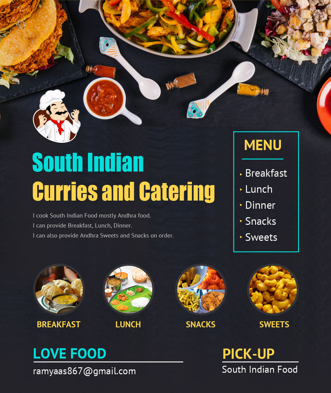 South Indian Curries And Catering - Cooking Service - Santa