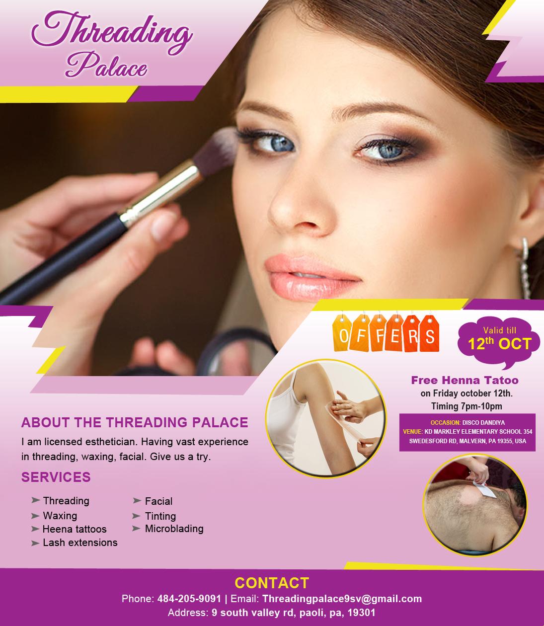 Threading Palace Beauty Salon Paoli Pa Sulekha