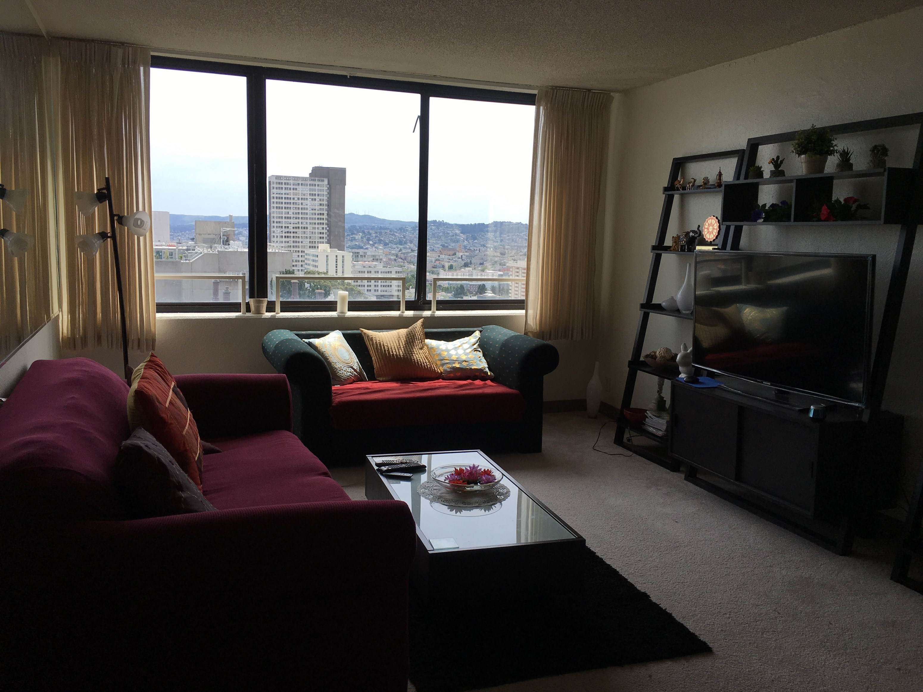 Single Bedroom In Sunny 2 Bedroom Apt At Pacific Height in