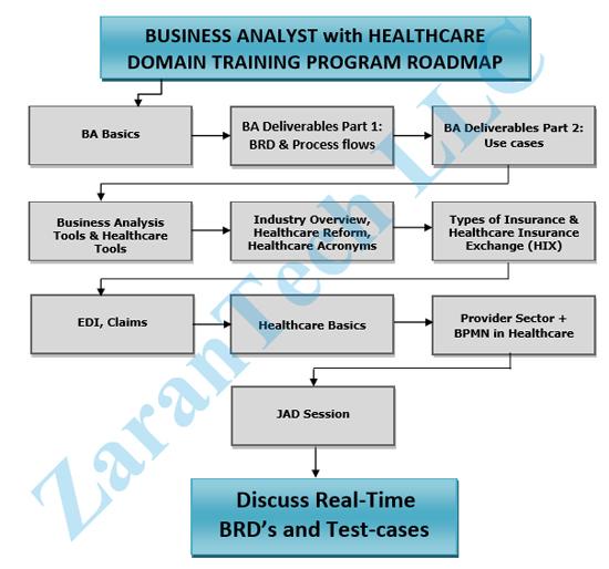 Certificate Program in Business Analyst Healthcare, BA Healthcare Domain  Job Training by ZaranTech LLC